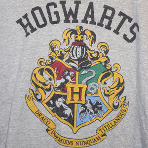 Harry Potter Hogwarts Crest Logo Shirt M/L